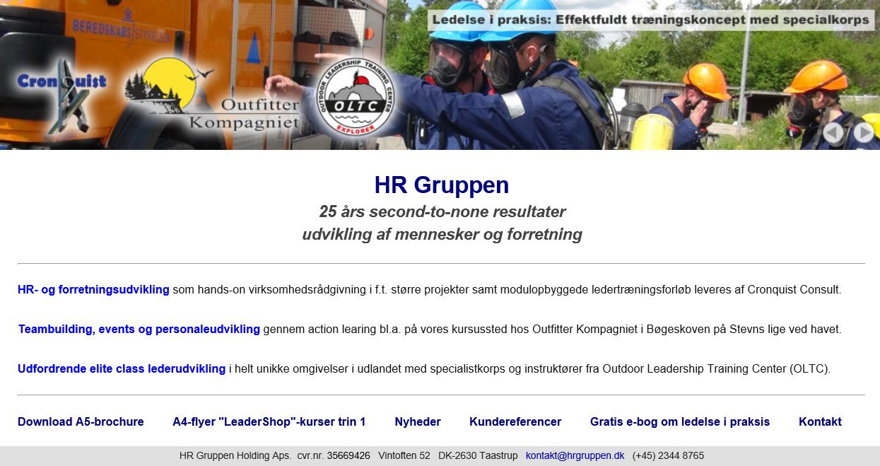 HR Gruppen website